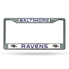 NFL Laser-Cut Chrome License Plate Frame -  Ravens