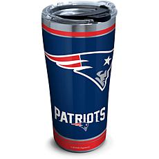 NFL New England Patriots Touchdown 20 oz Stainless Steel Tumbler wi...