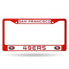 NFL Red Chrome License Plate Frame - 49ers