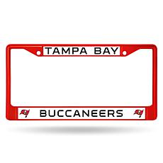 NFL Red Chrome License Plate Frame - Buccaneers