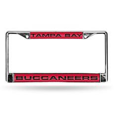 NFL Red Insert Laser-Cut License Plate Frame-Buccaneers