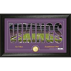 NFL Silhouette Panoramic Bronze Coin Photo Mint - Minnesota Vikings