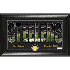 NFL Silhouette Panoramic Bronze Coin Photo Mint - Pittsburgh Steelers