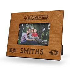 NFL Sparo Personalized Wood Picture Frame - 49ers