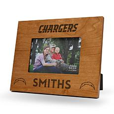 NFL Sparo Personalized Wood Picture Frame - Chargers