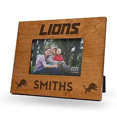 NFL Sparo Personalized Wood Picture Frame - Lions
