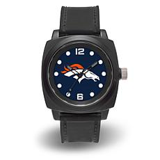 "NFL Sparo Team Logo ""Prompt"" Black Strap Sports Watch - Broncos"
