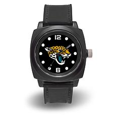 "NFL Sparo Team Logo ""Prompt"" Black Strap Sports Watch - Jaguars"