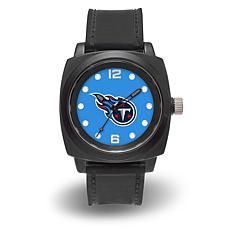 "NFL Sparo Team Logo ""Prompt"" Black Strap Sports Watch - Titans"
