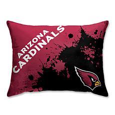 """NFL Splatter Print Plush 20"""" x 26"""" Bed Pillow - Arizona Cardinals"""