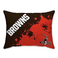 "NFL Splatter Print Plush 20"" x 26"" Bed Pillow - Cleveland Browns"