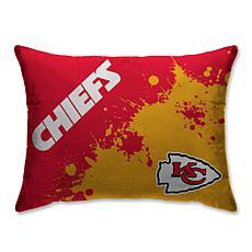 """NFL Splatter Print Plush 20"""" x 26"""" Bed Pillow - Kansas City Chiefs"""