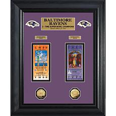 NFL Super Bowl Champs Replica Tickets and Coins-Ravens