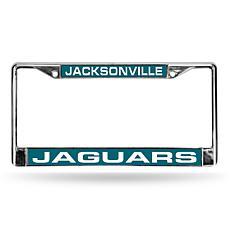 NFL Teal Insert Laser-Cut License Plate Frame-Jaguars