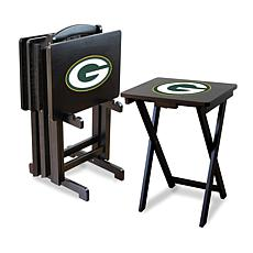 NFL Team Logo Set of 4 TV Trays with Stand - Packers