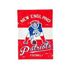 NFL Vintage Linen Garden Flag - Patriots