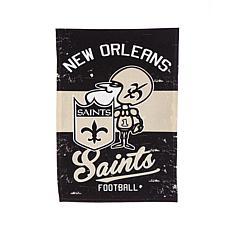 NFL Vintage Linen Garden Flag - Saints