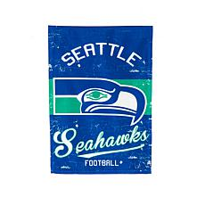 NFL Vintage Linen Garden Flag - Seahawks