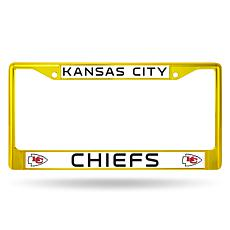 NFL Yellow Chrome License Plate Frame - Chiefs