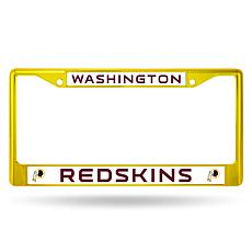 NFL Yellow/Maroon Chrome License Plate Frame - Redskins