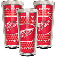 NHL 3-piece Shot Glass Set - Redwings