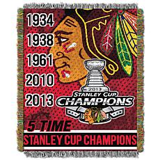 NHL Commemorative Series Tapestry Throw - Blackhawks