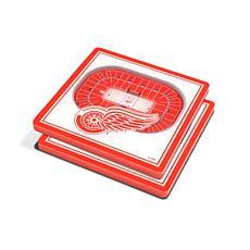 NHL Detroit Red Wings 3-D Stadium Views Coaster Set
