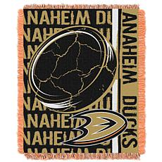NHL Double Play Woven Throw - Anaheim Ducks