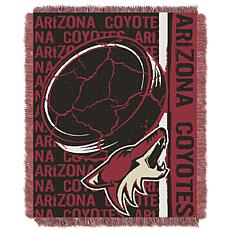 NHL Double Play Woven Throw - Arizona Coyotes