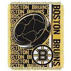 NHL Double Play Woven Throw - Bruins