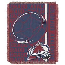 NHL Double Play Woven Throw - Colorado Avalanche
