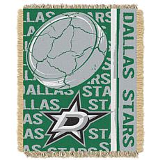NHL Double Play Woven Throw - Dallas Stars