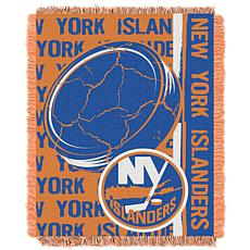 NHL Double Play Woven Throw - New York Islanders