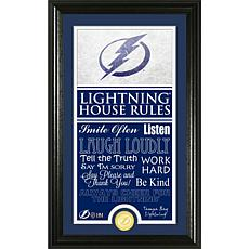 NHL House Rules Supreme Bronze Coin Photo Mint - Tampa Bay Lighting