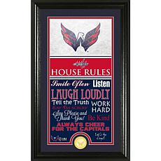 NHL House Rules Supreme Bronze Coin Photo Mint - Washington Capitals