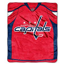 NHL Jersey Raschel Throw - Capitals