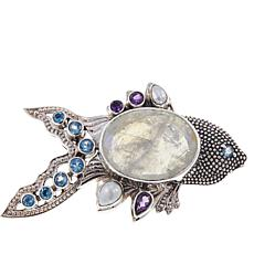 "Nicky Butler 15.95ctw Moonstone and Multigemstone ""Fish"" Brooch"