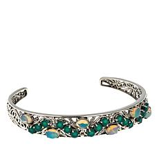 Nicky Butler 3.75ctw Chalcedony and Ethiopian Opal Vine Cuff Bracelet