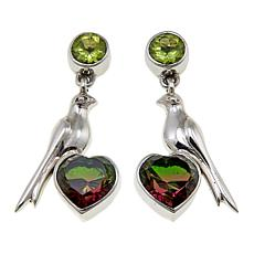 "Nicky Butler 4.9ctw Peridot and Quartz Triplet ""Love Bird"" Earrings"
