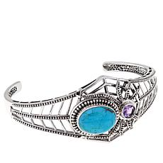 Nicky Butler .60ctw Turquoise and Amethyst  Spider Cuff
