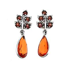 Nicky Butler 6.70ctw Garnet and Honey Quartz Leaf Earrings