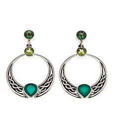 Nicky Butler Celtic Collection Green Topaz and Gem Knot Earrings