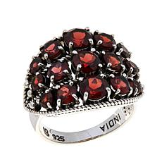Nicky Butler Garnet Sterling Silver East/West Dome Ring