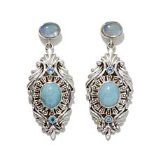 Nicky Butler Larimar and Multigemstone Earrings