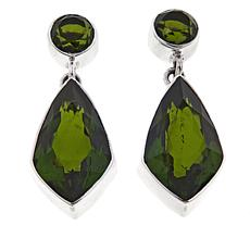 Nicky Butler Olivine Quartz Triplet Drop Earrings