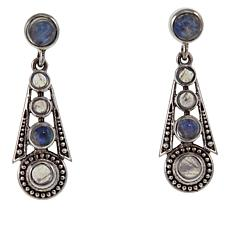 Nicky Butler Rainbow Moonstone Graduated Deco Drop Earrings