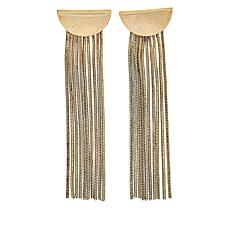 "Nicole Romano ""Willow"" Goldtone Fringe Earrings"