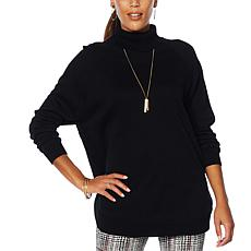 Nina Leonard Cowl Neck Sweater