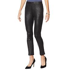 Nina Leonard Faux Leather Novelty Legging