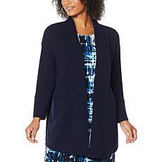 Nina Leonard High Tech Crepe Oversized Blazer